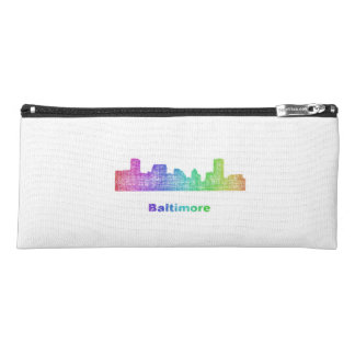 Rainbow Baltimore skyline Pencil Case