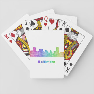 Rainbow Baltimore skyline Poker Deck