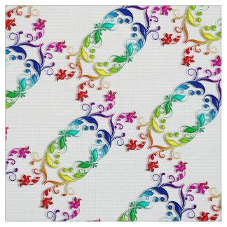 rainbow baroque element fabric