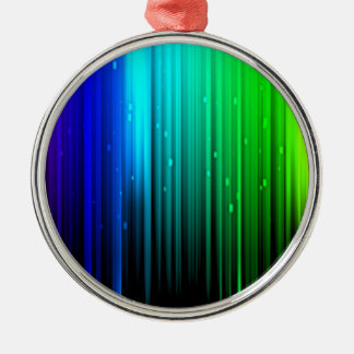 RAINBOW BARS Silver-Colored ROUND ORNAMENT