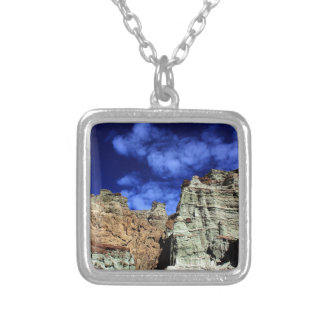 Rainbow Basin Silver Plated Necklace
