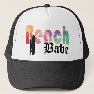 RAINBOW BEACH BABE SURF GIRL TRUCKER HAT