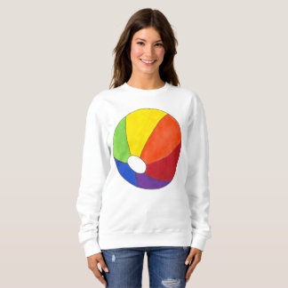 Rainbow Beach Ball Beachball Vacation Summer Fun Sweatshirt