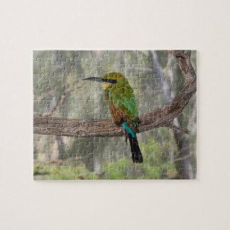 Rainbow bee-eater bird, Australia Jigsaw Puzzle