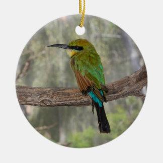 Rainbow bee-eater bird, Australia Round Ceramic Ornament