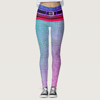 Rainbow Belted Two-Tone Denim Skinny Jeans Leggings