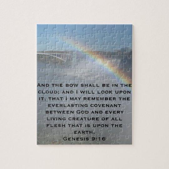Rainbow Bible Scripture Jigsaw Puzzle