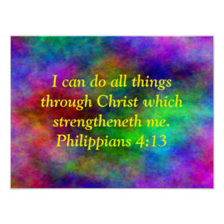 Rainbow Bible verse poster phil. 413