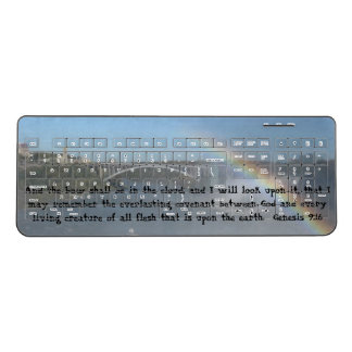 Rainbow Bible Verse Wireless Keyboard