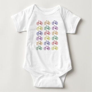 Rainbow Bicycles Baby Bodysuit
