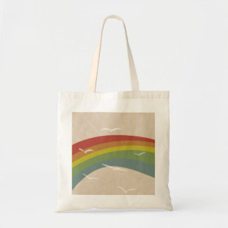 Rainbow Bird Beach Tote