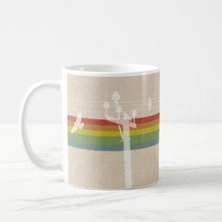 Rainbow Bird on Wire Mug