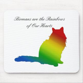 Rainbow Birman 2 Mouse Pad