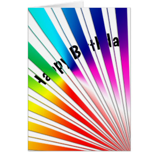 rainbow birthday humor card