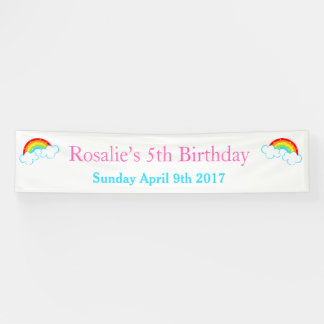 Rainbow Birthday Party Banner