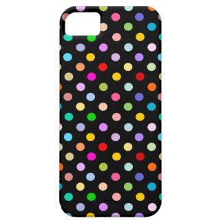 Rainbow & Black Polka Dot pattern iPhone 5 Cover