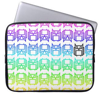 Rainbow Block Owl Laptop Sleeve