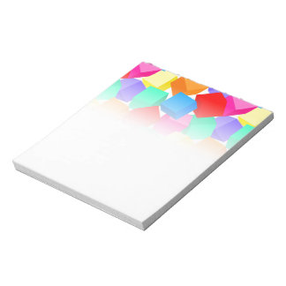 Rainbow blocks notepad