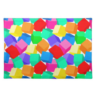 Rainbow blocks placemat