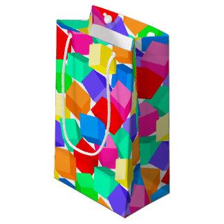 Rainbow blocks small gift bag