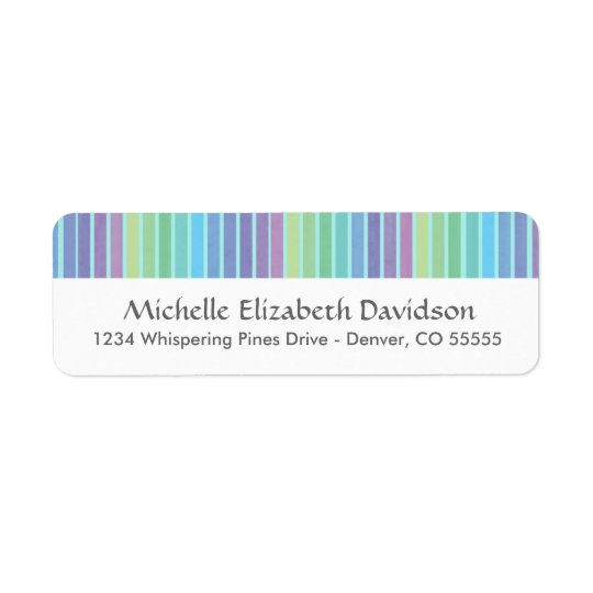 Rainbow Blues Personalized Return Address Labels