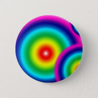Rainbow Blur 2 Inch Round Button