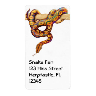 Rainbow Boa Constrictor Snake Label