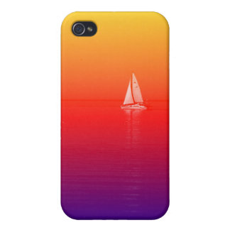 Rainbow Boat Case For iPhone 4