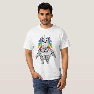 Rainbow Body Building Muscular Unicorn T-Shirt
