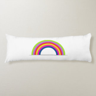 rainbow body pillow