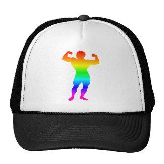 Rainbow Bodybuilder Trucker Hat