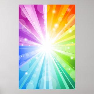 Rainbow Bokeh School/Portrait Photo Booth Backdrop Poster