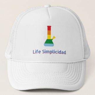 Rainbow-Bong by Life Simplicidad & GrindAndVape Trucker Hat