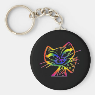 Rainbow Boo-Boo Kitty Keychain