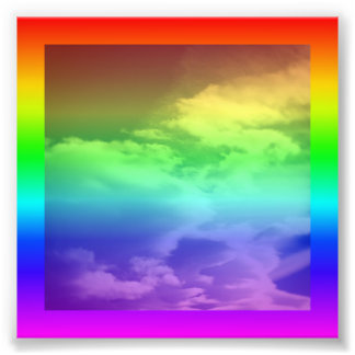 Rainbow Border and Overlay Photo Print