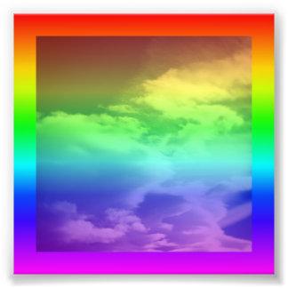 Rainbow Border and Overlay Photograph
