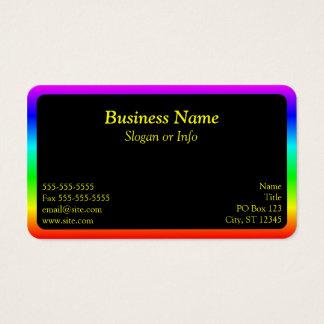 Rainbow Border Business Card