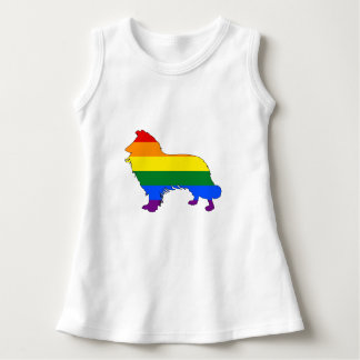Rainbow Border Collie Dress