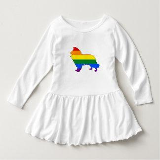 Rainbow Border Collie Dress