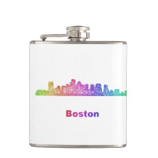 Rainbow Boston skyline Flasks