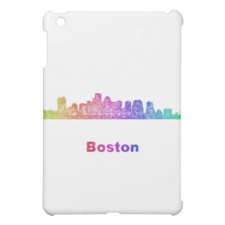 Rainbow Boston skyline iPad Mini Case