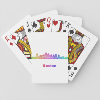 Rainbow Boston skyline Poker Deck