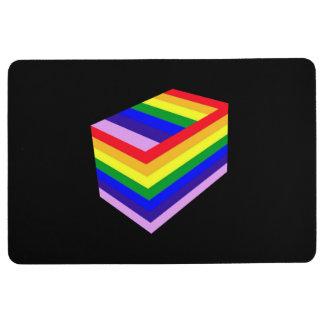 Rainbow box Floor Mat