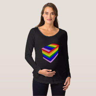 rainbow box Maternity Long Sleeve T-Shirt