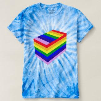 RAINBOW BOX Men's Cyclone Tie-Dye T-Shirt