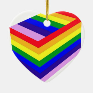 RAINBOW BOX PRIDE CERAMIC HEART ORNAMENT