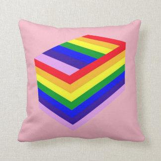 "RAINBOW BOX PRIDE Polyester Throw Pillow 16"" x 16"""