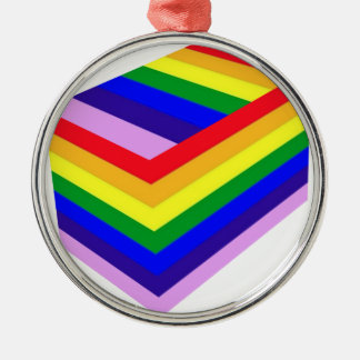 RAINBOW BOX PRIDE Silver-Colored ROUND ORNAMENT