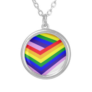 RAINBOW BOX PRIDE SILVER PLATED NECKLACE