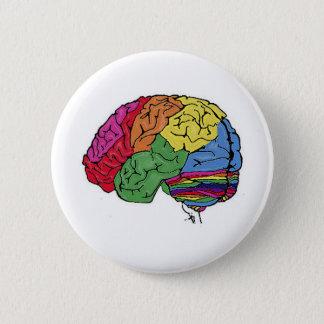 Rainbow Brain 2 Inch Round Button